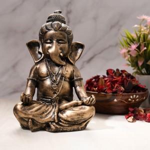 Meditation Pose Bal Ganesha Statue, Antique Finish...