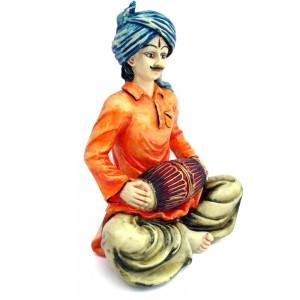 Indian Man Statue Playing Tabla Made in Polyresine...