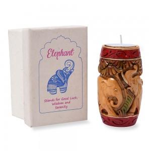 Beautiful Hand Curved & Hand Painted Tea Light...