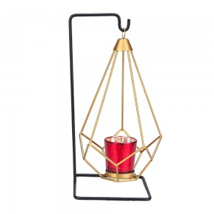 Gold Geometric Hanging Votive Candle Holders Matte...