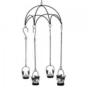 Black Color Hanging Umbrella 4 in 1 Butterfly Shap...