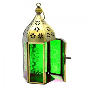 Mini Moroccan Lantern Glass Hanging Lamp