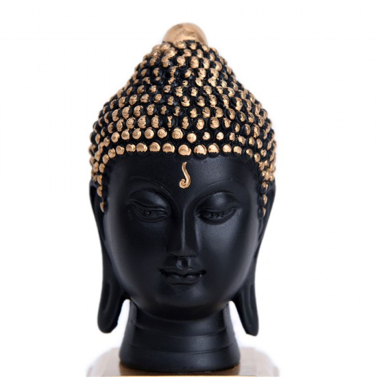 "Premium Buddha Head Statue, Buddha Idols for Home Décor (3"" Tall Buddha Paper Weight)"