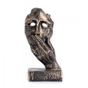 The Thinker Statue, 13X 23 x 9 Cms, Black Silver, ...