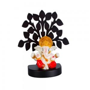 Lord Ganesha Sitting under tree, Ganesh Ji Idol Sc...