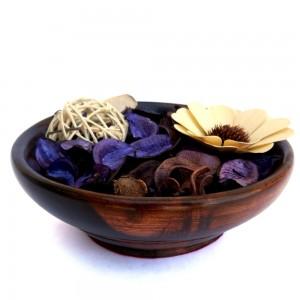 Wooden Botanical fragrant Potpourri Bowl with Lemo...