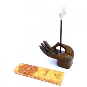 Wooden Vitarka Mudra Incense Holder Incense Burner...