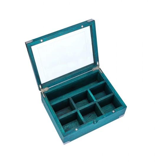 Premium Tea Box Organizer, 7 Compartments, Tea Storage, Tea Chest, Tea Bag Holder Tea Leaf's, Coffee Pods, Instant Coffee Packets (Tea Box)