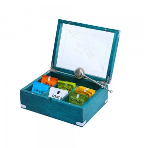 Premium Tea Box Organizer, 7 Compartments, Tea Sto...
