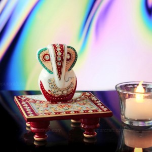 Hand Embossed & Cutting Stone Work Lord Ganesh...