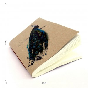 Ecofriendly Indian Peacock Theme Notebook, Easy to...