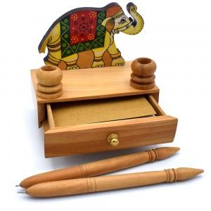Munim Ji Style Handmade Wooden Elephant Box Drawer...