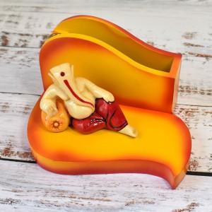 Relaxing Pose Divine Ganesha Figure Desktop Card/P...