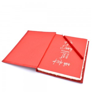 Large Handmade Deckled Edge Paper Executive Notebo...