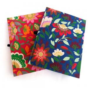 Flora Pattern Ecofriendly Hardbound Pair Notebook ...