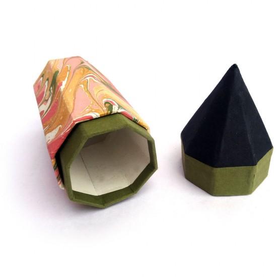 ecoFriendly Herbal Neem Pen Set of 10 with Handmade Paper Pen/Pencil Box (Green)
