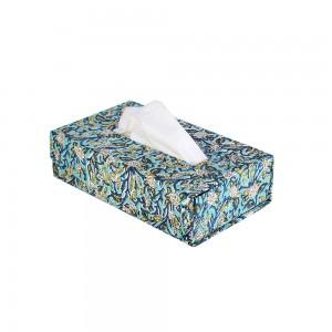 Handblocked Print Fabric Cover Tissue Paper Box/Co...