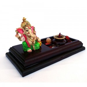 Lord Ganesha Incense Cone Holder with Multicolored...