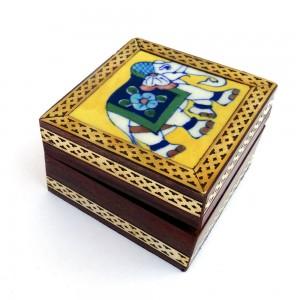 Jaipur Blue Pottery Ceramic Tile Wood Utility Box ...