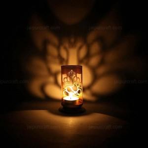 Ganesha Shadow Tea Light Holder Made by precise cu...